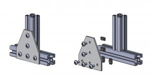 Halteplatte-T T-Verbinder
