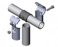 Verbinder-90° 1-fach mit-Kunststoffeinlage