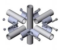 Verbinder-90° 4-fach Doppel-T-Verbinder