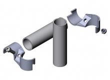 Querverbinder für Rohrprofilsystem