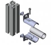 Systemverbinder Rohrprofil Rohrprofil-Verbinder Profiladapter