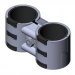 Parallelverbinder mit Kunststoffeinlage Twinverbinder