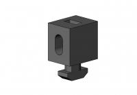 Uniblock, PVC hart, schwarz, PVC, Scheibenhalter, Halter, Flächenelement, Anbauteil, Zubehör, flexibel, Nut 10 6302 K 1006 SW 01