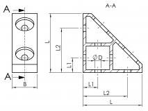 Drawn corner angle 1N Heavy Duty