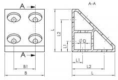 Eckwinkel gezogen 2N 4020-A-7480-EL-01 4020-A-8490-EL-01