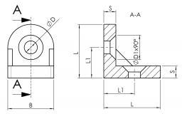 Eckwinkel-halbrund 4030-A-3037-EL-01 4030-A-3843-EL-01