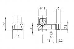 Schnellspannverbinder-Nut-8-innen 4508-S-0802-VZ-01