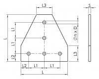 Halteplatte-T T-Verbinder 4801-A-20T060-EL-01 4801-A-30T090-EL-01 4801-A-40T120-EL-01 4801-A-45T135-EL-01
