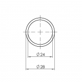 Aluminium-Rohr Rohrprofil 5001-A-028-EL-01