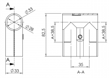 Verbinder 90° 1-fach parallel Verbinder-90° Verbinder-90-Grad 5014-S-001-SW-01