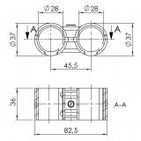 Parallelverbinder mit-Kunststoffeinlage Doppelverbinder 5019-S-001-SW-01