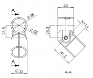 Verbinder 45° Verbinder-45° 5020-S-001-SW-01