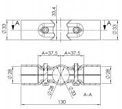 Verbinder 180° 2-fach T-Verbinder Kreuzverbinder 5022-S-001-SW-01