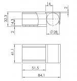 Röllchenleistenaufnahme 5053-S-001-VZ-01