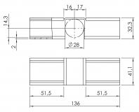 Röllchenleistenaufnahme Verlängerung 5053-S-004-VZ-01