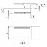 Röllchenleistenaufnahme-Gelenk-starr 5053-S-006-VZ-01