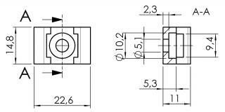 Kabelblock 1-Weg 6331K0001SW01