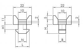 Kabelblock 2-Wege 6332K0802SW01 6332K1002SW01