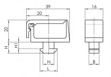 Kabelclip 1-Kammer 6333K0801SW01 6333K1001SW01