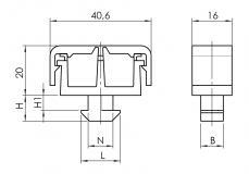 Kabelclip 2-Kammer 6334K0802SW01 6334K1002SW01